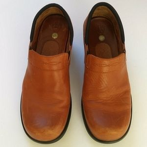 Ariat Brown Leather Clogs Slip On Size 8.5